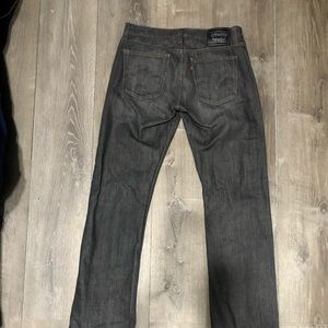 GRAY LEVIS 514 STRAIGHT FIT JEANS